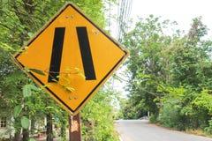 Ярлык предупредительного знака Стоковая Фотография