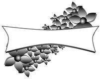 Ярлык при стилизованные изолированные цветки иллюстрация вектора