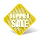 Ярлык продажи лета с славной квадратной предпосылкой Стоковое Фото