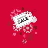Ярлык продажи рождества Стоковые Фото