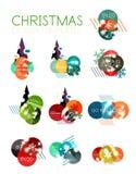 Ярлык рождества вектора или стикер ценника Стоковые Фотографии RF