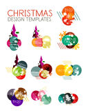 Ярлык рождества вектора или стикер ценника Стоковая Фотография