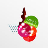 Ярлык рождества вектора или стикер ценника Стоковое фото RF
