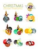 Ярлык рождества вектора или стикер ценника Стоковое Изображение RF