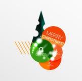 Ярлык рождества вектора или стикер ценника Стоковая Фотография RF