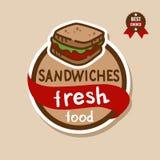 Ярлык 2 сандвичей Стоковая Фотография RF