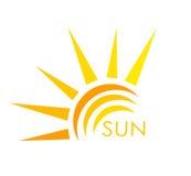 Ярлык Солнця Стоковые Изображения RF