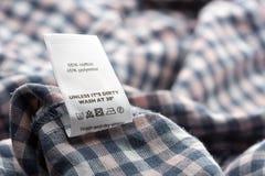 Ярлык ткани стоковые изображения rf