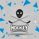 Ярлык хоккея Стоковая Фотография RF