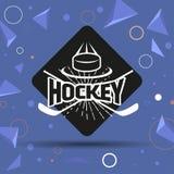 Ярлык хоккея Стоковые Изображения RF
