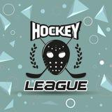 Ярлык хоккея Стоковые Изображения