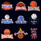 Ярлык цвета баскетбола Стоковое фото RF