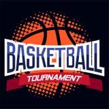 Ярлык цвета баскетбола Стоковое Изображение RF