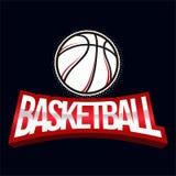 Ярлык цвета баскетбола Стоковые Изображения RF