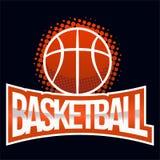 Ярлык цвета баскетбола Стоковое Изображение