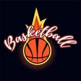 Ярлык цвета баскетбола Стоковое Фото