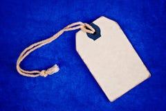 Ярлык ценника пустой скидки винтажный как космос экземпляра Стоковая Фотография RF