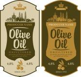 Ярлык для оливкового масла иллюстрация вектора