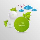 Ярлык Eco дружелюбный зеленый Стоковые Изображения RF