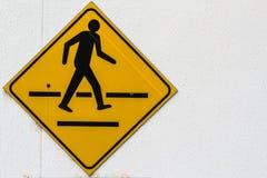 Ярлык Yello crosswalk Стоковые Фото