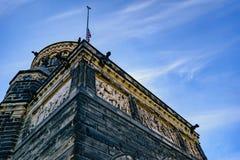ясная зима garfield james мемориальная Огайо дня cleveland Мемориал Гарфилда Стоковые Фото