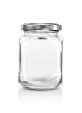 Ясная стеклянная бутылка с серебряной крышкой Стоковое Фото