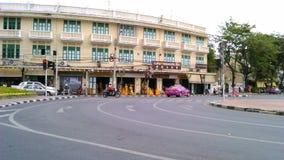 Ясная улица в городке Бангкока старом Стоковое Фото