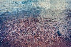 Ясное каменистое дно Стоковое Фото