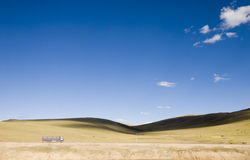 ясное небо вниз Стоковое Фото