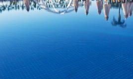 Ясное открытое море в бассейне, через солнечный свет вода вектора картины иллюстрации цвета предпосылки безшовная Стоковое Изображение
