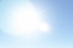 Ясное солнечное небо в лете Стоковая Фотография