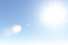 Ясное солнечное небо в лете стоковые фотографии rf