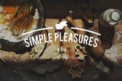 Ясность простого удовольствия упрощает концепцию удовольствия более простую Стоковые Изображения RF