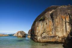 Ясные небо, открытое море и утесы в Albany западной Австралии Стоковая Фотография RF