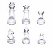 Ясные шахматные фигуры стоковое изображение