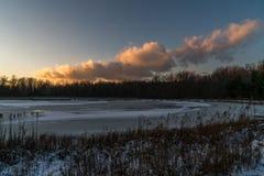 Ясный и холодный день зим Стоковое Изображение RF