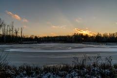 Ясный и холодный день зим Стоковые Фотографии RF