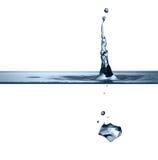 ясным упаденная кубиком вода вектора иллюстрации льда Стоковая Фотография RF