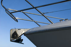 яхта взгляда upclose анкера Стоковое фото RF