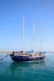 Яхта в гавани ираклиона, Крите Стоковые Фотографии RF