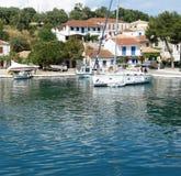 Яхта в Греции Стоковое Изображение