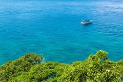 Яхта в море Стоковое фото RF