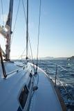 Яхта гонок Стоковая Фотография