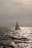 яхта захода солнца Стоковое Фото