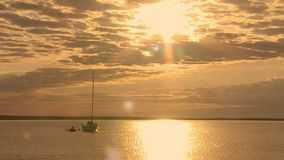 яхта залива сток-видео