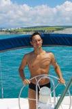 яхта капитана Стоковая Фотография RF