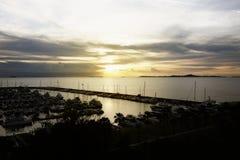 Яхта Марины взгляда Стоковые Фото