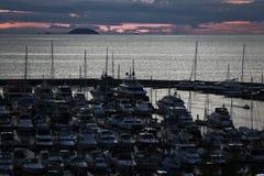 Яхта Марины взгляда Стоковые Фотографии RF