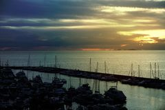 Яхта Марины взгляда Стоковое Фото