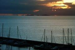 Яхта Марины взгляда Стоковая Фотография RF